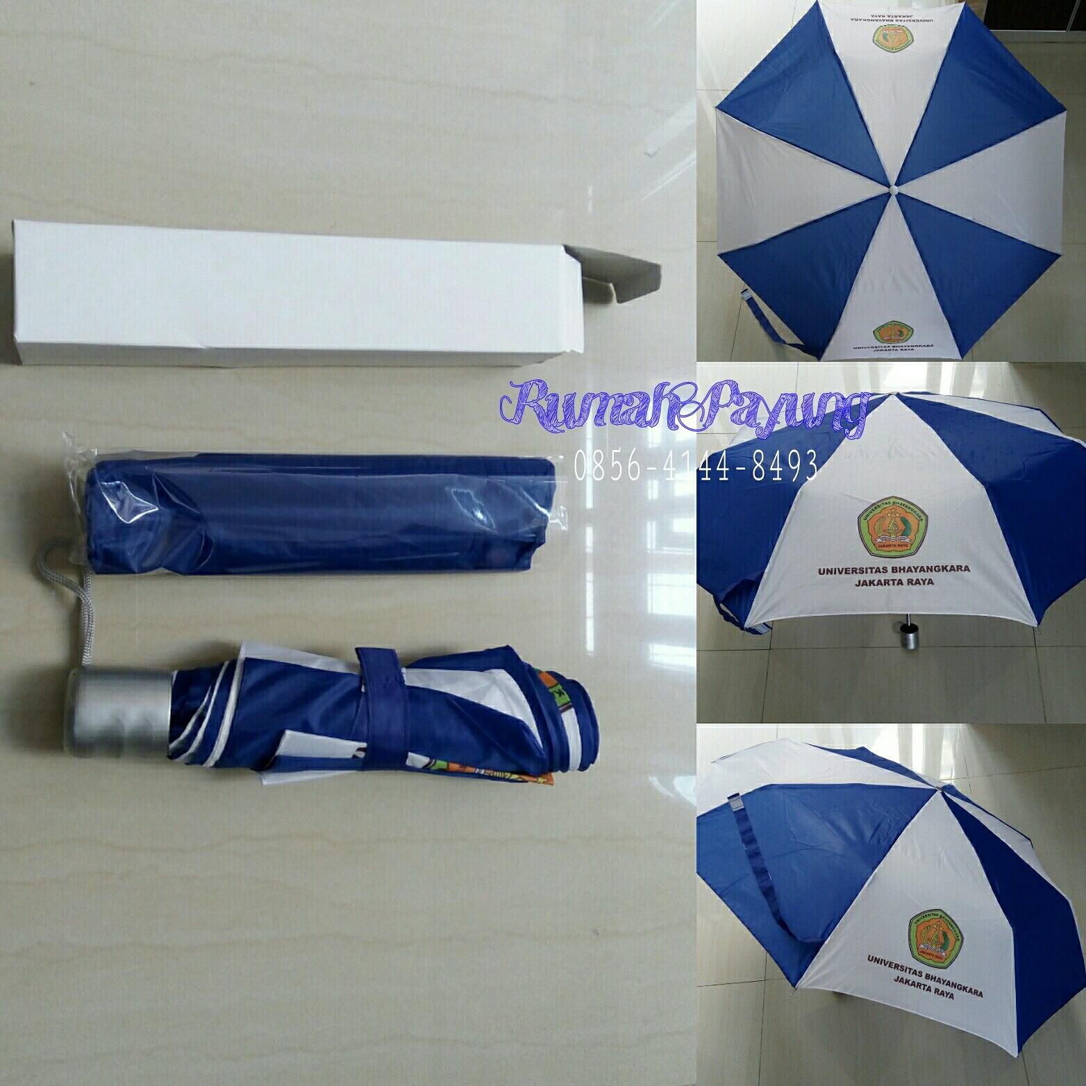 Payung Lipat 3 Polos Warna Khusus Cetak Sablon