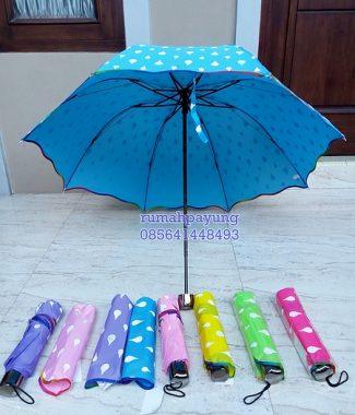 payung lipat motif 3d rubah warna