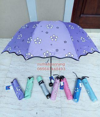 payung lipat motif 3d sakura daun
