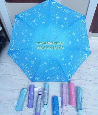 payung lipat motif kupu-kupu
