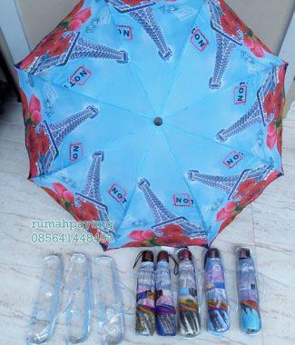 Payung Lipat Nagoya Motif Paris Besar