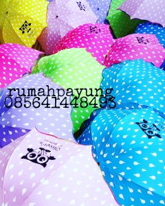 payung 3d motif polkadot warna warni
