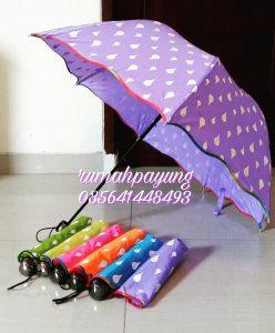 payung 3d motif polkadot warna pastel