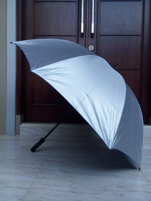 payung-golf-biasa-lapis-biru-warna-silver