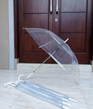 PT001GRC-promosi payung standar transparan standar putih