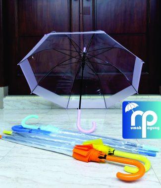 Payung Transparan List Besar