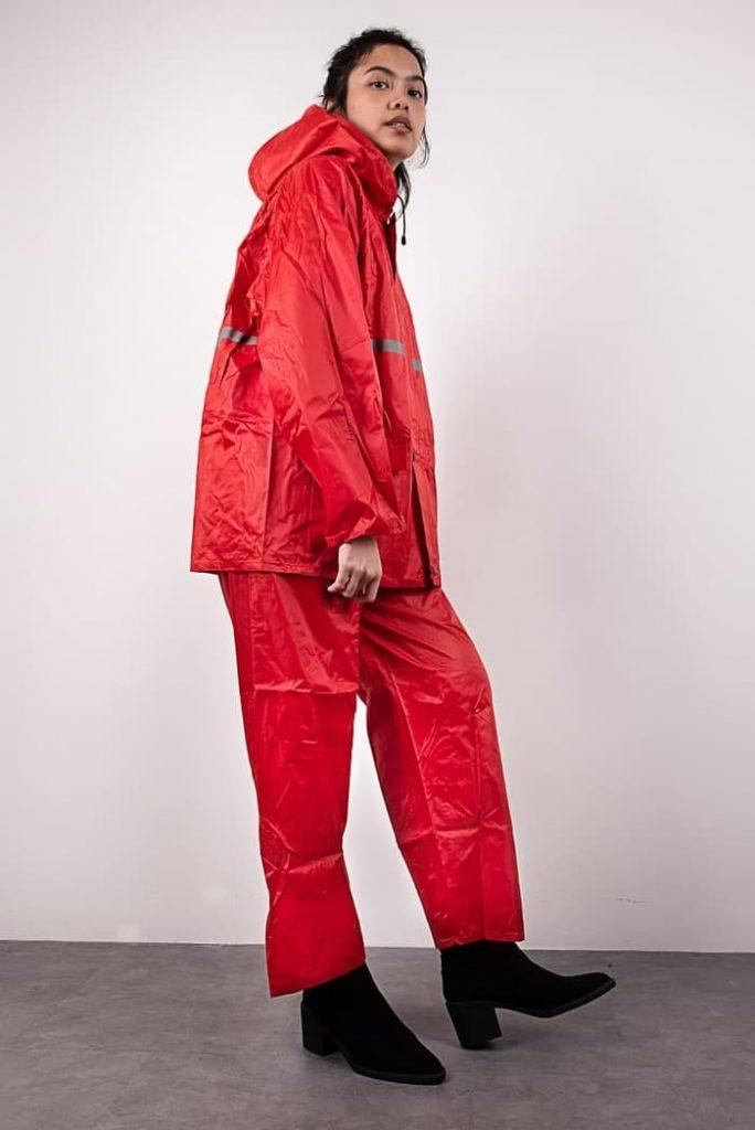 jas hujan jaket celana-8070-1 merah