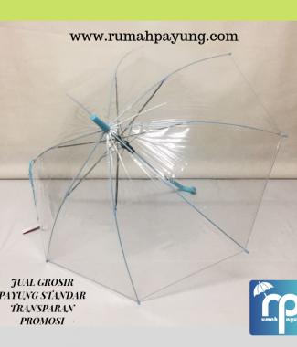 Payung Transparan Handle J