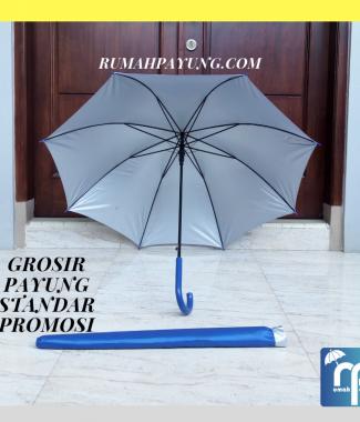 Payung Standar Gagang Plastik J Lapis UV + Sarung Payung
