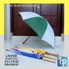 payung standar kombinasi merah putih kuning putih biru putih gagang kayu dan plastik