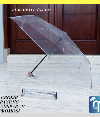 Payung Transparan Lipat Campur Warna