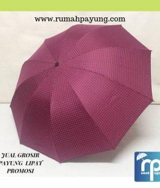 Payung Lipat Motif Kotak