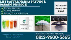 LIST DAFTAR HARGA PAYUNG & BARANG PROMOSI JUNI 2019 TERBARU TERUPDATE RUMAH PAYUNG DI PALANGKARAYA