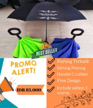 Payung Terbalik / Kazbrella + Sarung Payung