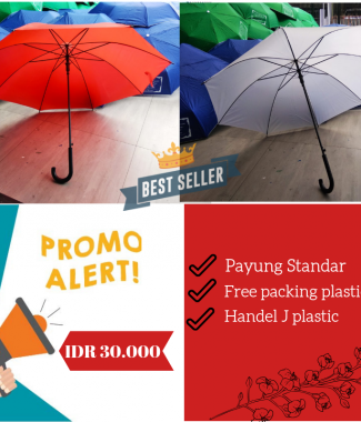 Payung Standar Merah-Putih 17 Agustus
