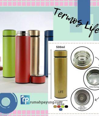 Tumbler Termos LIFE Botol Air Minum Vacum Steinless 500ml