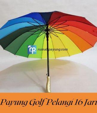 PAYUNG GOLF PELANGI RAINBOW 16 JARI JUMBO