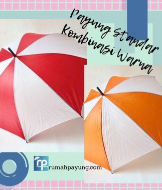 Payung Standar Kombinasi Warna bisa sablon logo