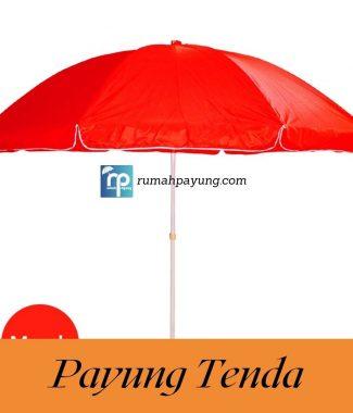 payung tenda Merah payung pantai/bazar/cafe/pkl