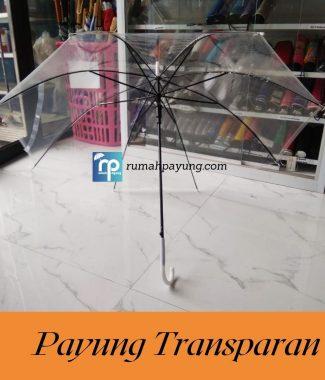 Payung Panjang Transparan / Payung unik / Payung bening Berkualitas