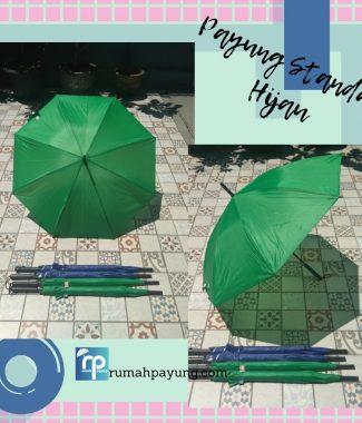 payung standar warna hijau gagang lurus