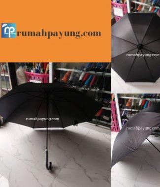 payung standar gagang j warna hitam